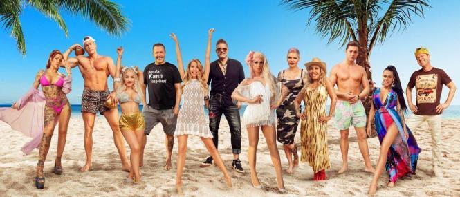 """Teilnehmer der neuen Staffel von """"Promis unter Palmen""""."""