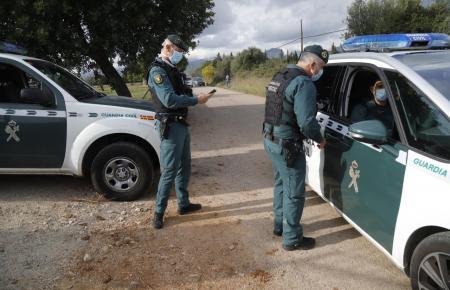 Die Guardia Civil bei der Arbeit.