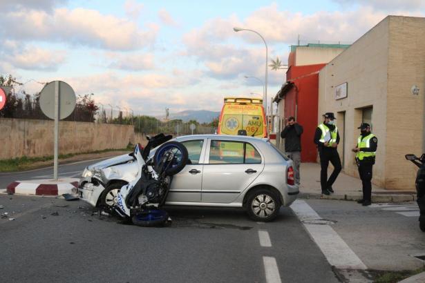 Die Unfallstelle in Son Ferriol am Montagvormittag.