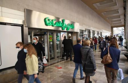 Der Eingang zum Kaufhaus Corte Inglés an der Jaime-III-Straße in Palma.