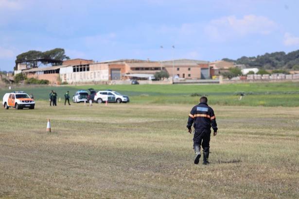 Auf diesem Flugfeld bei Vilafranca ereignete sich das Unglück.