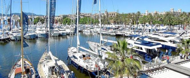Der Yachthafen von Palma de Mallorca.