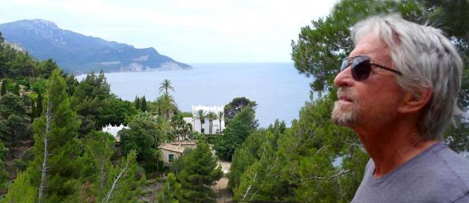 Michael Douglas auf Mallorca.