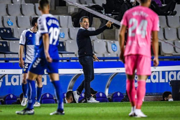 Real-Mallorca-Trainer Luis García Plaza war von der schwachen Leistung seines Teams in Sabadell wenig begeistert.