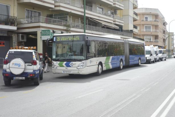 100 neue Busse sind mittlerweile auf Palmas Straßen unterwegs.
