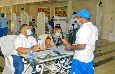 Im Hotel Meliá Punta Cana Bávaro in der Domrep wird derzeit fleißig geimpft.