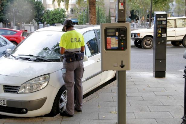 ORA-Zone auf Mallorca.