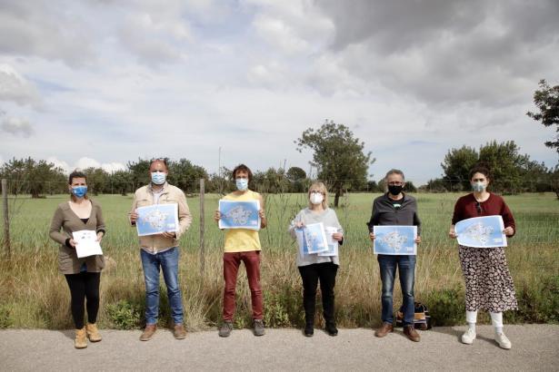 Umweltschützer und Lanwirte protestieren gegen die geplanten Solarparks auf Mallorca (Foto UH)