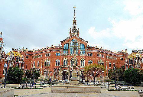 Das Krankenhaus Sant Pau ist ein wahres Schmuckstück.