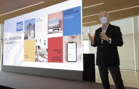 Pedro Homar, der Chef der Stiftung Palma 365, erklärt die Werbekampagne.