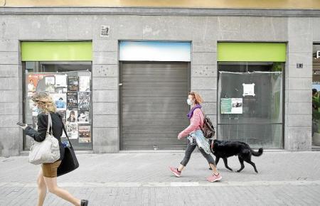 Auf der Suche nach Mietern: Im Zentrum von Palma de Mallorca sind verstärkt geschlossene Läden und Geschäfte zu finden.