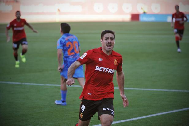 Hier bejubelt Abdón seinen Treffer zum 1:0 gegen Mirandés.