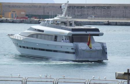 """Die Yacht """"Fortuna"""" vor Jahren mit dem damaligen König Juan Carlos im Hafen von Palma."""