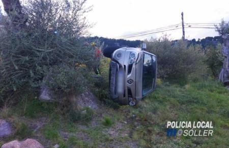 Dieses Fahrzeug überschlug sich vor Sóller.