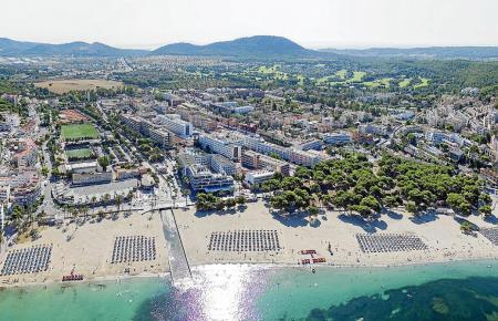 Luftbild von Santa Ponça.