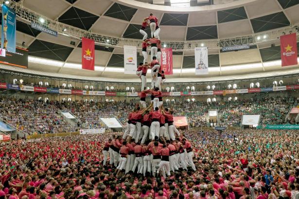 """Die Wettbewerbe der """"Castells"""" erfreuen sich großer Beliebtheit."""