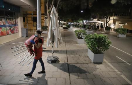Restaurantschließung auf der Blanquerna-Straße in Palma.