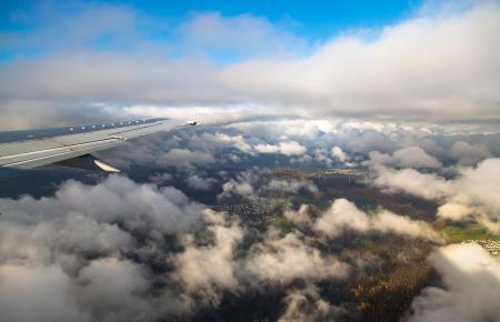 Über den Wolken: Francina Armengol postete ein Foto von ihrer Reise nach Deutschland.
