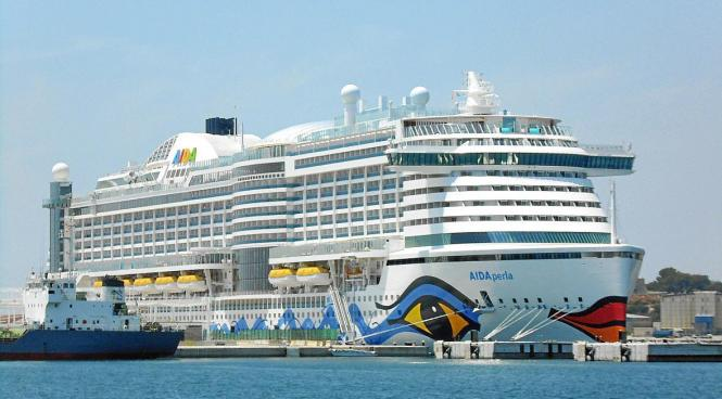 """Die """"Aida Perla"""" wird bald wieder im Hafen von Palma anlegen."""