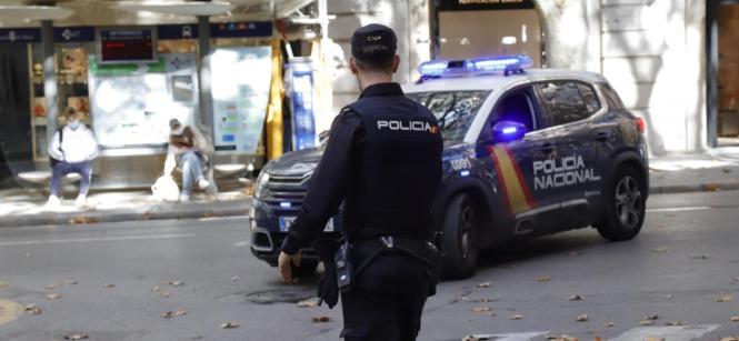 Nationalpolizist im Einsatz in Palma.