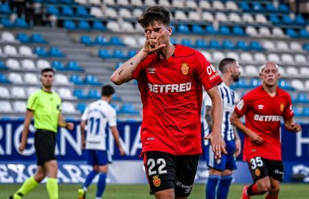 Hier bejubelt Real Mallorcas Marc Cardona seinen Treffer zum 1:1 in Ponferrada.