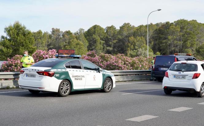 Es kam nach dem Unfall immer wieder zu Staus auf Palmas Ringautobahn.