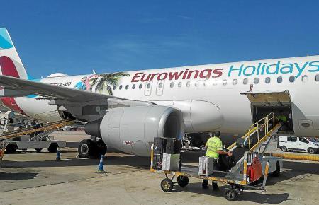 An Palmas Flughafen wurden am Sonntag über 300 Flüge abgefertigt.