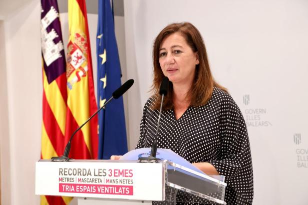 Die Ministerpräsidentin der Balearen, Francina Armengol, setzt auf deutsche Touristen.