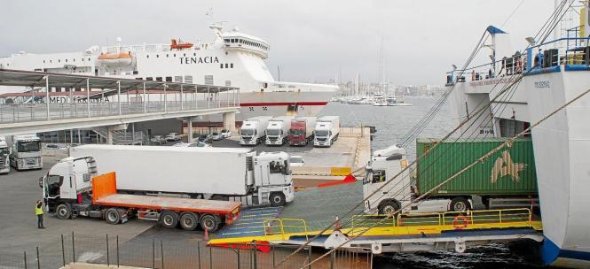 Baleària und Grimaldi-Trasmediterránea haben in den letzten Wochen alle ihre Gütertransporte nach Mallorca erhöht.