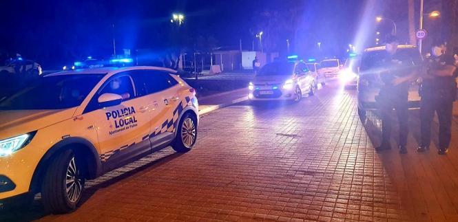 Die Polizei in Palma hat mehrere illegale Trinkgelage aufgelöst.