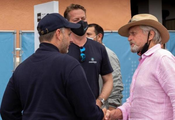 """Michael Douglas am Freitag zu Gast auf der auf der """"Palma International Boat Show""""."""