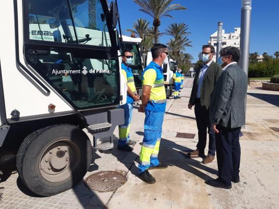 Die Stadtwerke Emaya sorgen an Palmas Stränden für mehr Sauberkeit.