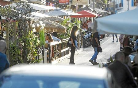 Restaurantterrassen in Santa Catalina.