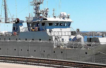 """Das Kriegsfahrtschiff """"Alborán"""" befindet sich derzeit im Hafen von Palma."""