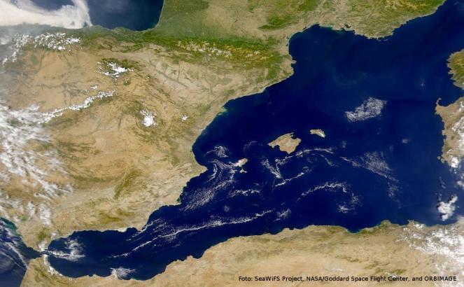 Mallorca vom All aus betrachtet.