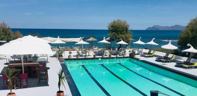 Blick auf den beliebten Pool.
