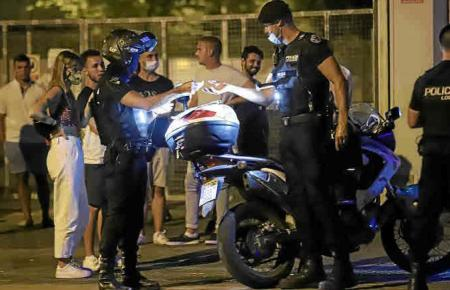 Polizeieinsatz bei Trinkgelage in Palma.