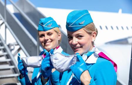 Flugbegleiterinnen von Eurowings.
