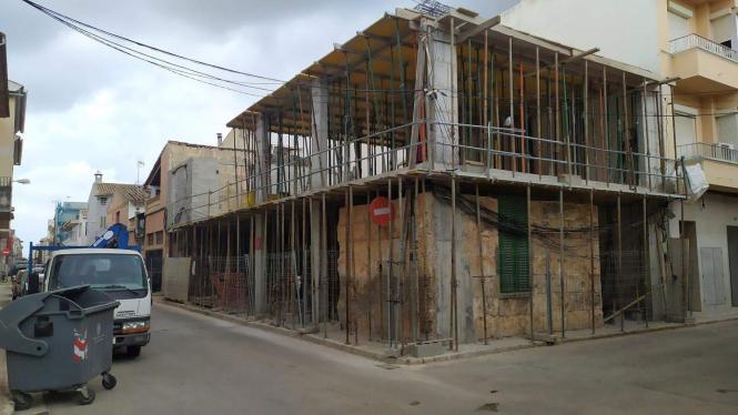 Baustelle im Ortskern von Sa Pobla.