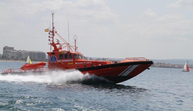 """Der Seenotrettungsdienst """"Salvamiento Marítimo""""."""