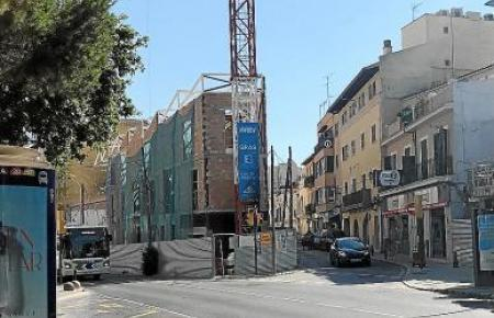 An der Plaça Gomila wird kräftig gebaut.