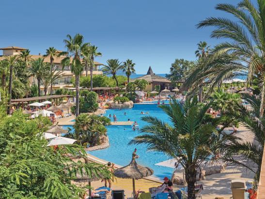 Das Eden Playa an der Platja de Muro ist eines der zahlreichen Allsun-Hotels auf Mallorca.