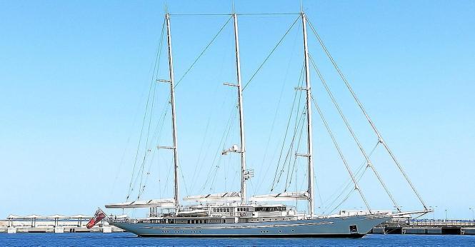 Die Athena am Samstag im Hafen von Palma.