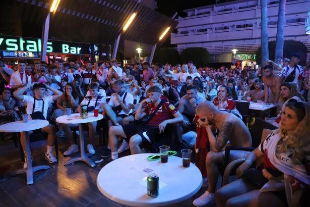 Die Anhänger des englischen Teams hatten in Magaluf nichts zu feiern.