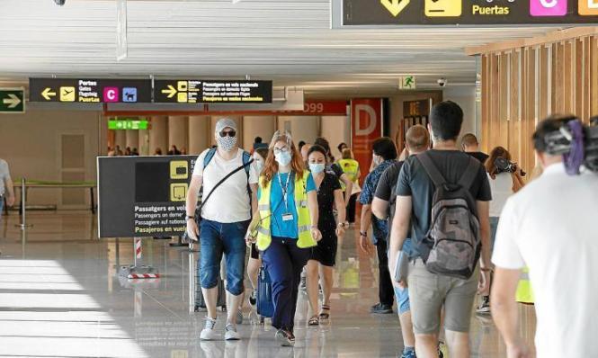 Am Samstag war auf dem Flughafen von Mallorca fast so viel Betrieb wie vor zwei Jahren.