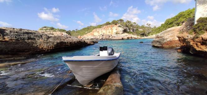 Migrantenboot vor der mallorquinischen Küste.