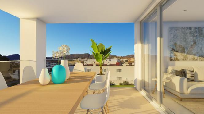 Das Gebäude ist in 20 Wohnungen von ca. 90 m2 aufgeteilt. Alle verfügen über zwei Schlafzimmer und zwei Bäder.