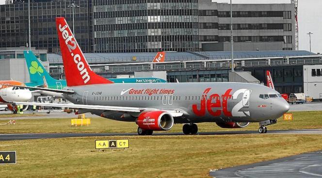 Viele Briten kommen mit der Airline Jet2.com nach Mallorca.
