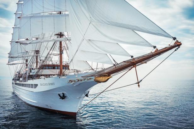 Ab September wird die Sea Cloud Spirit auf den Weltmeeren unterwegs sein.