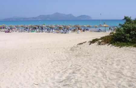 Der Strand befindet sich in Can Picafort.